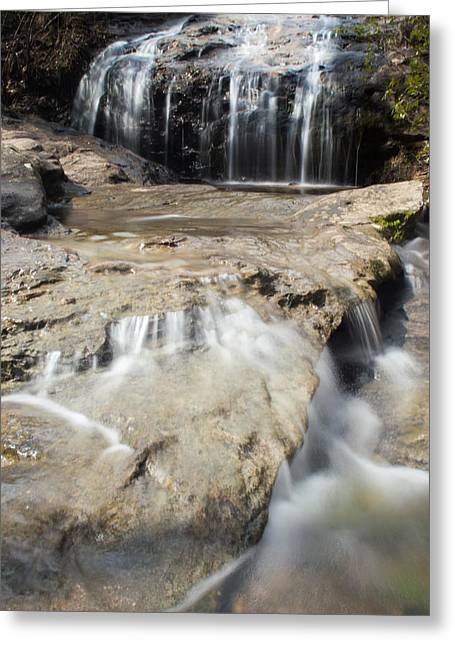 Falling Water Creek Greeting Cards - Rocky Falls Greeting Card by Parker Cunningham