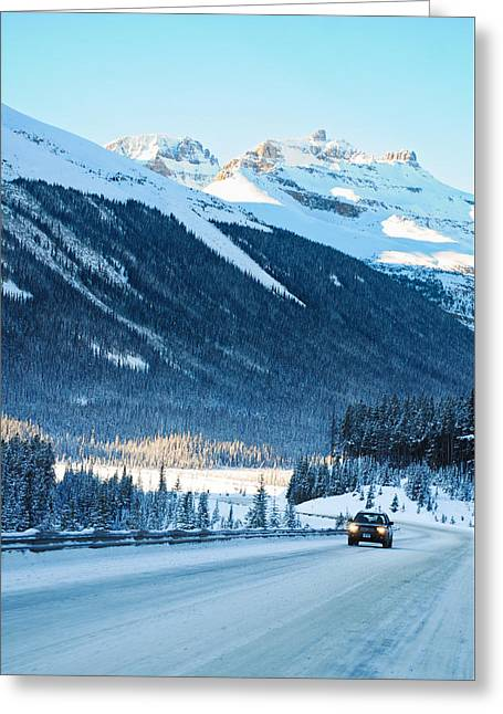 Mountain Road Greeting Cards - Icefields Parkway Highway  Greeting Card by Ulrich Schade