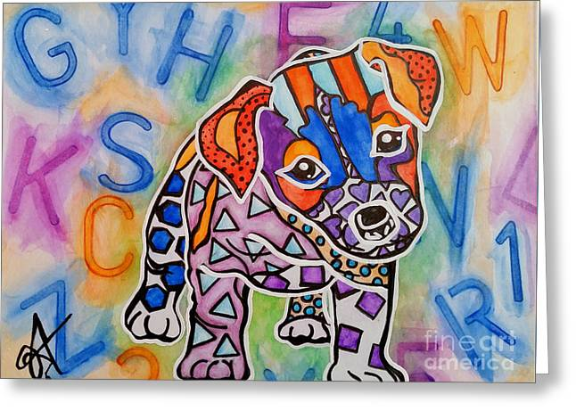 Clever Mixed Media Greeting Cards - Rocky Greeting Card by Jackie Carpenter
