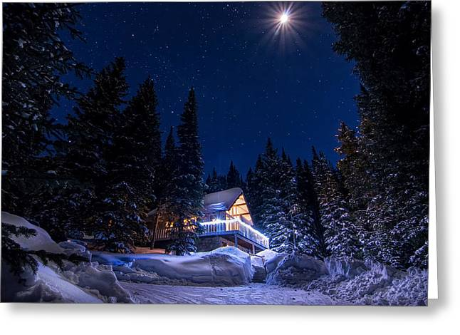 Creek Greeting Cards - Rocky Mountain Chalet Greeting Card by Michael J Bauer