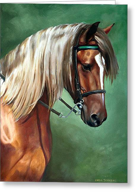 Bridle Greeting Cards - Rocky Mountain Horse Greeting Card by Linda Tenukas