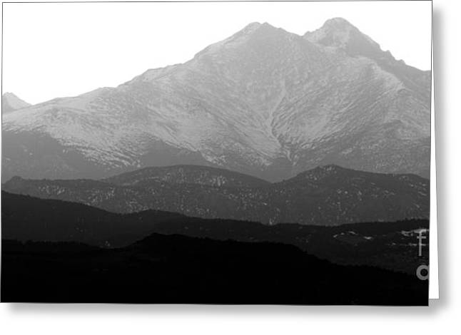 Twin Peaks Greeting Cards - Rocky Mountain Twin Peaks BW Greeting Card by James BO  Insogna
