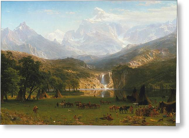 The Horse Greeting Cards - Rocky Mountains Greeting Card by Albert Bierstadt