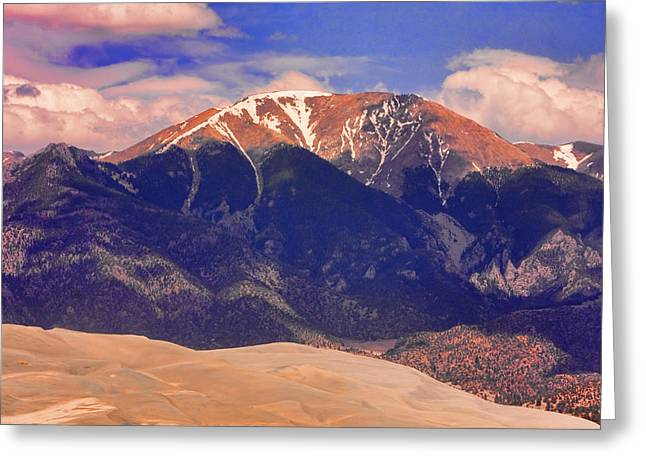 """commercial Photography Art Prints"" Greeting Cards - Rocky Mountains and Sand Dunes Greeting Card by James BO  Insogna"