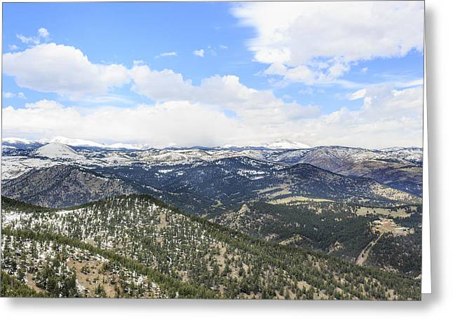 Denver Pyrography Greeting Cards - Rocky Mountains Denver Colorado Greeting Card by Celal Yesilada