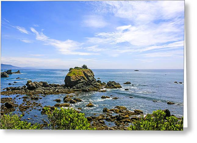 Outlook Greeting Cards - Rocky Pacific Coastline Greeting Card by Chris Smith
