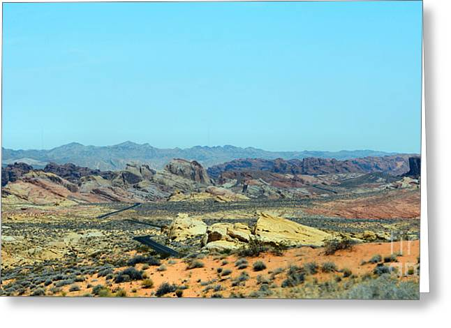 Dome Tapestries - Textiles Greeting Cards - Rocky Rainbow Desert Greeting Card by Edna Weber