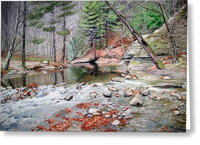 Tennessee River Paintings Greeting Cards - Rocky Rapids Greeting Card by Jennifer Oakley-Delaplante