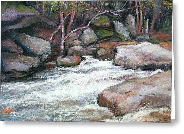 Georgia Pastels Greeting Cards - Rocky River Greeting Card by Estelle Schwarz