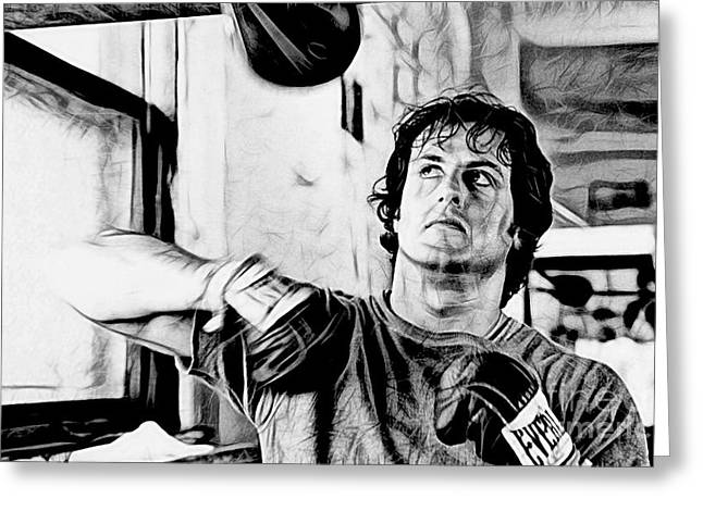 Rocky Sylvester Stallone Collection Greeting Card by Marvin Blaine