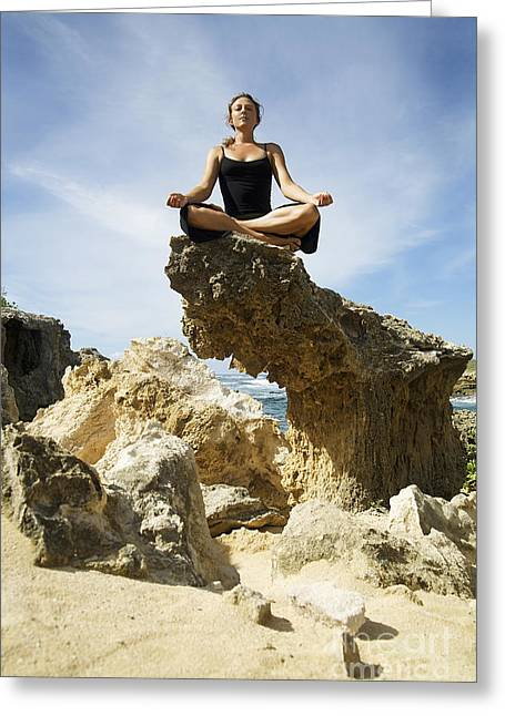 Attract Greeting Cards - Rocky Yoga Greeting Card by Kicka Witte - Printscapes