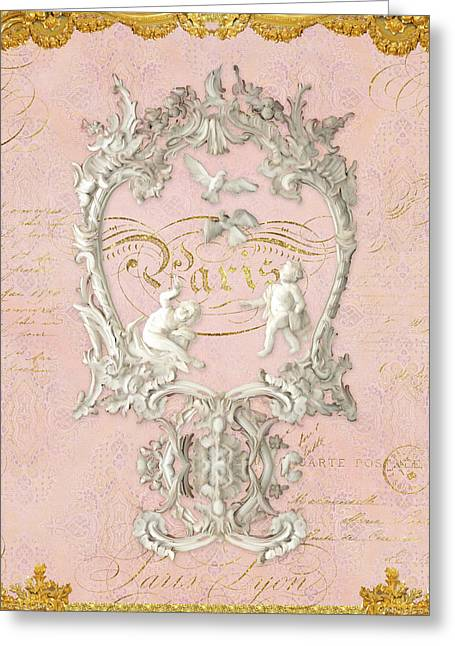 Rococo Versailles Palace 1 Baroque Plaster Vintage Greeting Card by Audrey Jeanne Roberts