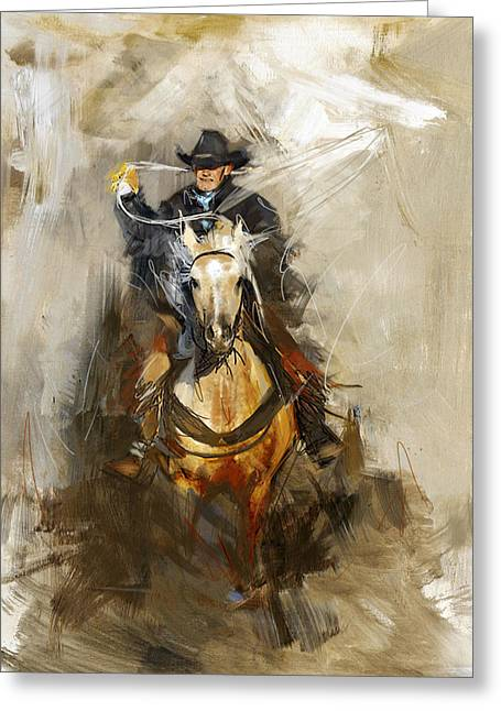 Rodeo 12 Greeting Card by Maryam Mughal