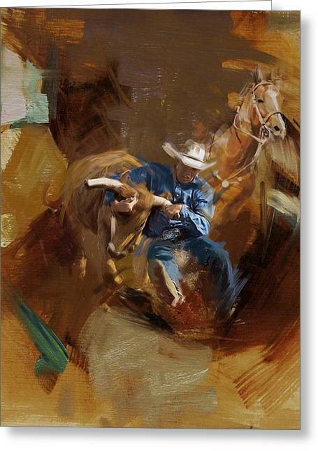 Rodeo Greeting Cards - Rodeo 17 Greeting Card by Maryam Mughal