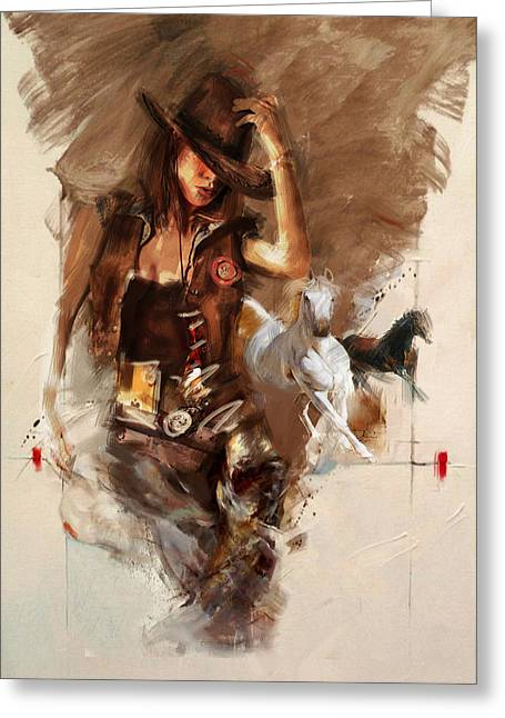 Star Valley Greeting Cards - Rodeo 22 Greeting Card by Maryam Mughal
