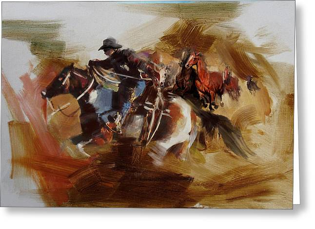 Arlington Greeting Cards - Rodeo 25 Greeting Card by Maryam Mughal