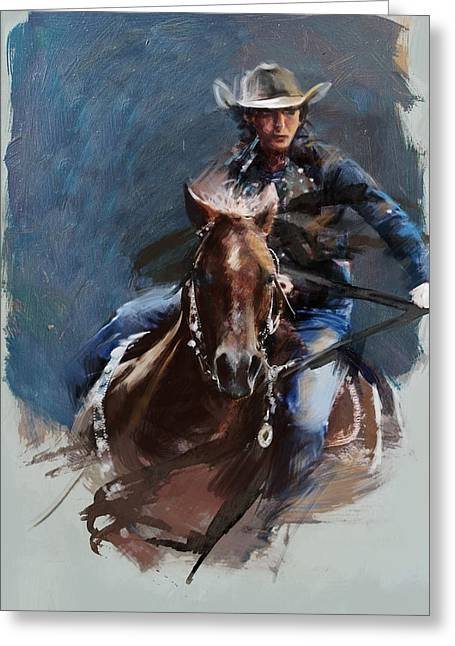 Southern Nevada Greeting Cards - Rodeo 34 Greeting Card by Maryam Mughal