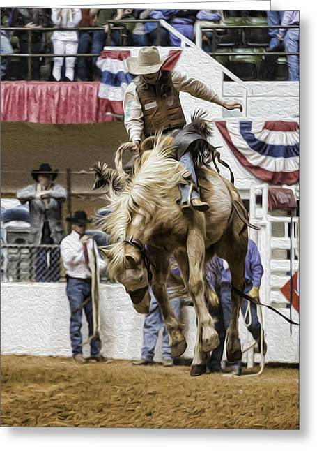 Rodeo Air Time Greeting Card by Stephen Stookey
