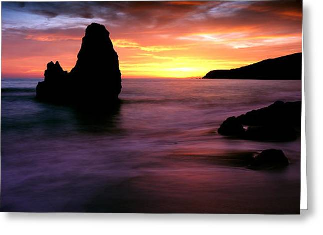 Golden Gate National Recreation Area Greeting Cards - Rodeo Beach At Sunset, Golden Gate Greeting Card by Panoramic Images