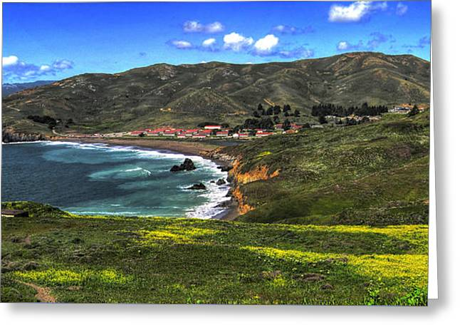 Marin County Greeting Cards - Rodeo Cove Greeting Card by Richard Stephen