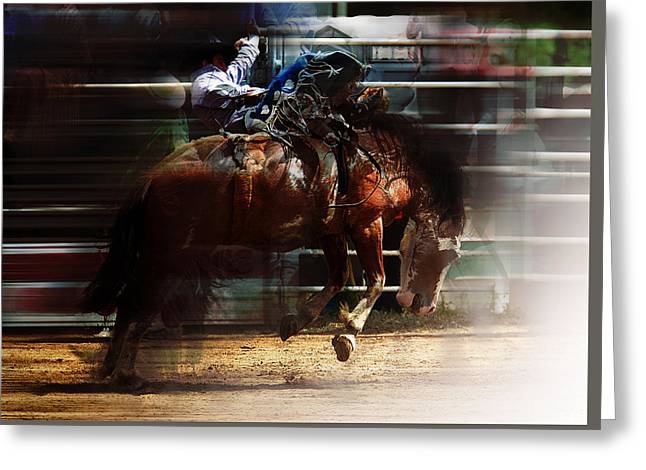 Rodeo Days Greeting Card by Mark Courage