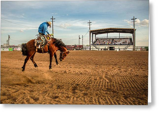 Rodeo Days Greeting Card by Todd Klassy