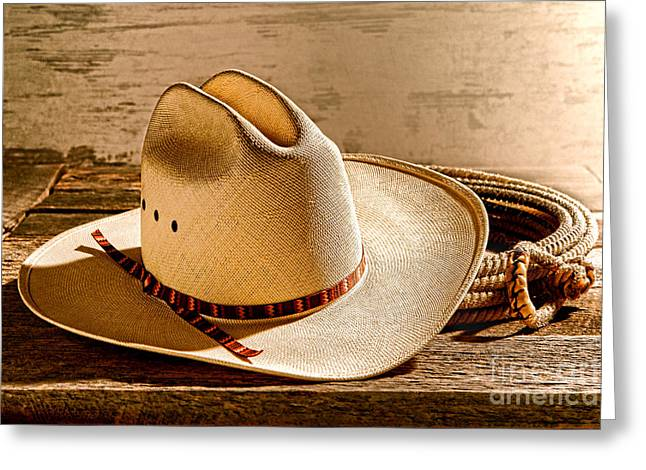 Rodeo Photographs Greeting Cards - Rodeo in Laredo Greeting Card by Olivier Le Queinec