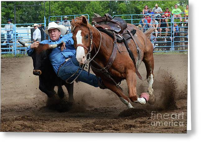 Rodeo Life 2 Greeting Card by Bob Christopher