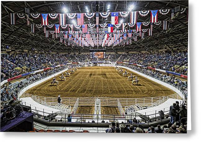 Rodeo Time In Texas Greeting Card by Stephen Stookey