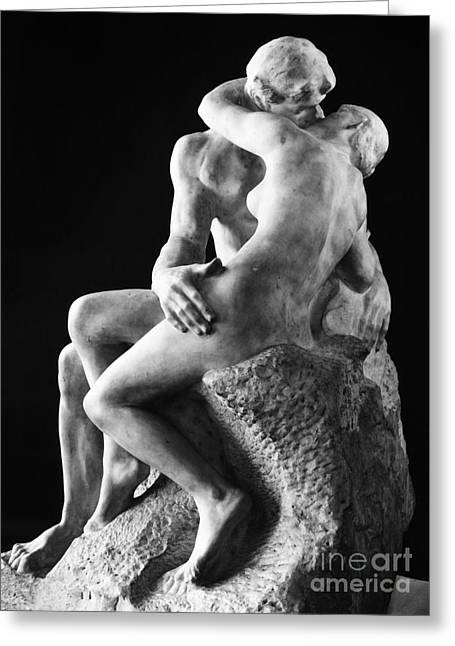 Embrace Greeting Cards - Rodin: The Kiss, 1886 Greeting Card by Granger