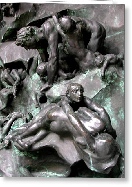 Sex Sculptures Greeting Cards - Rodins Gates of Hell Greeting Card by Carl Purcell