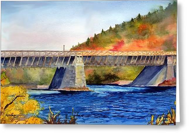 Roebling Aqueduct Bridge Greeting Card by Paul Temple