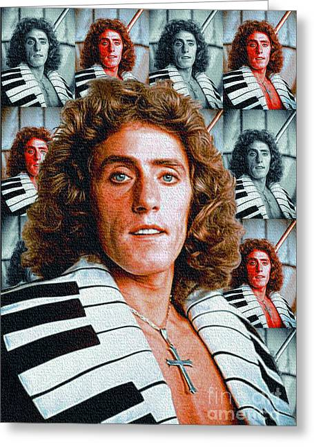Roger Daltrey - The Who Greeting Card by Ian Gledhill