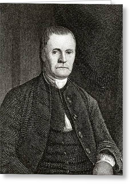 Fame Drawings Greeting Cards - Roger Sherman 1721 To 1793 American Greeting Card by Ken Welsh