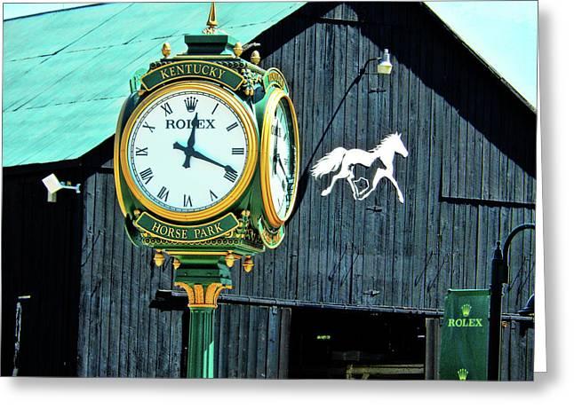 Rolex Clock Greeting Card by Bob Welch