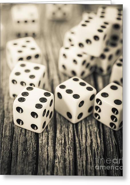 Die Greeting Cards - Roll of the Dice Greeting Card by Edward Fielding