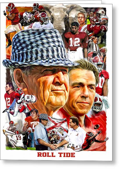 Roll Tide Greeting Card by Mark Spears