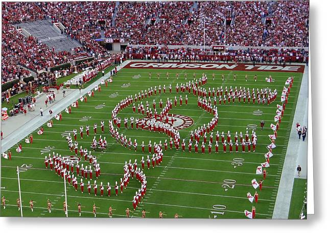 University Of Alabama Greeting Cards - Roll Tide Greeting Card by Vicki Tinnon