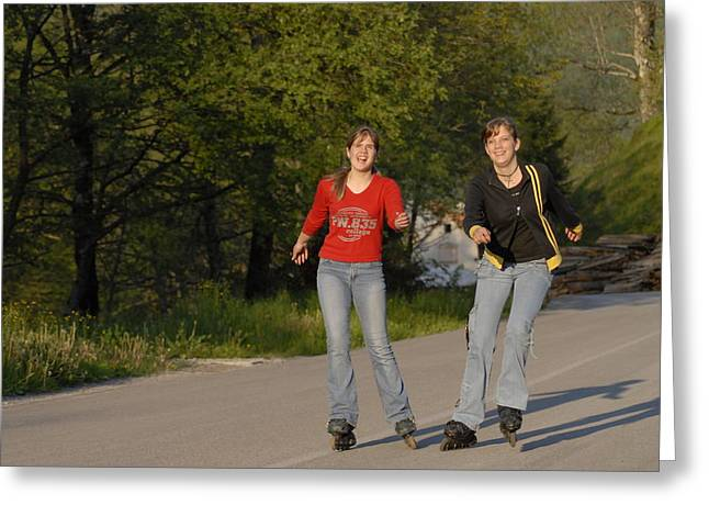 Teen Greeting Cards - Roller Skating in Cabar Croatia Greeting Card by Don Wolf