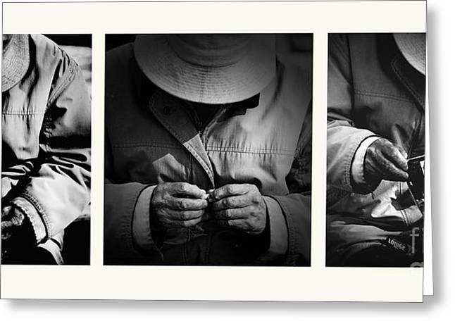 Rolling His Own Greeting Card by Avalon Fine Art Photography