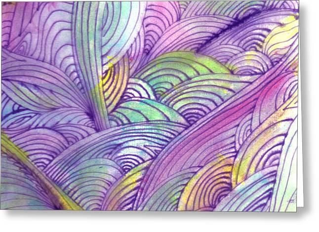 Rolling Patterns in Pastel Greeting Card by Wayne Potrafka