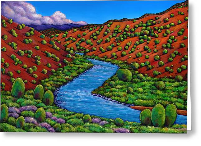 Rolling Rio Grande Greeting Card by Johnathan Harris