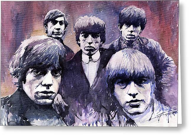 Rolling Stone Greeting Cards - Rolling Stones  Greeting Card by Yuriy  Shevchuk