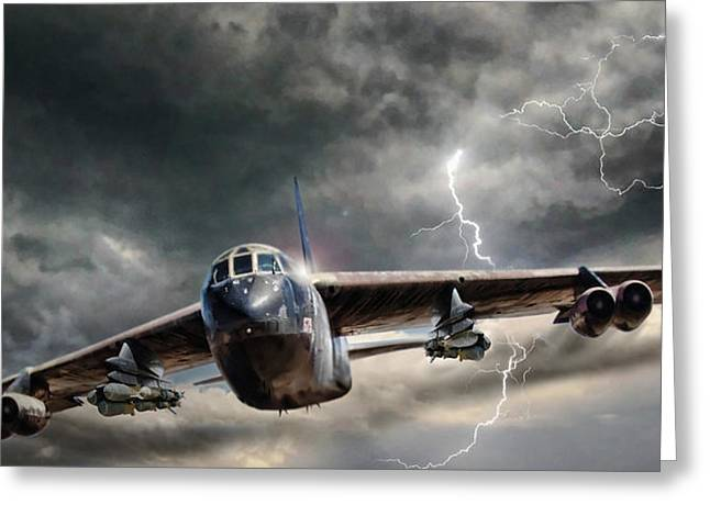 Rolling Thunder V2 Greeting Card by Peter Chilelli