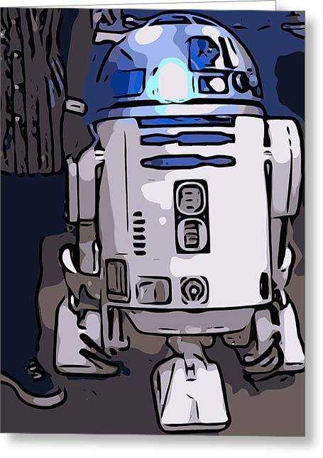 Fandom Greeting Cards - Rolling with R2- D2 Greeting Card by Nissy G