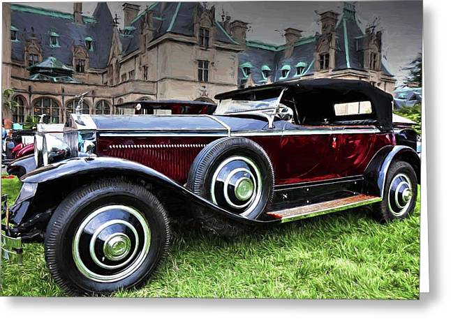 Rolls Royce Painted Phantom I Greeting Card by Carol R Montoya