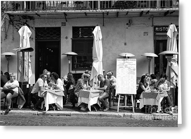 Italian Restaurant Greeting Cards - Roma Lunch 2015 Greeting Card by John Rizzuto