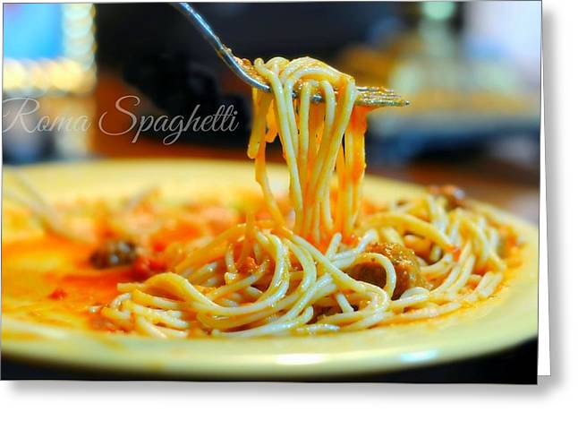 Roma Spaghetti Greeting Card by Diana Angstadt