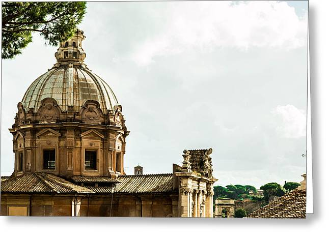 City Reliefs Greeting Cards - Roma Greeting Card by Wajih Ben taleb