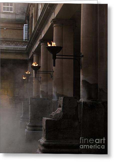 Roman Baths Greeting Card by Amanda Barcon